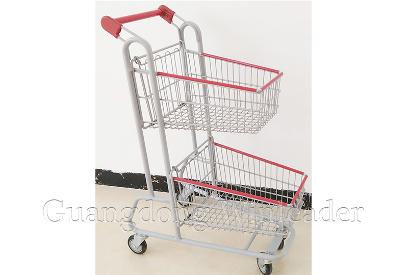 Two Basket Shopping Cart