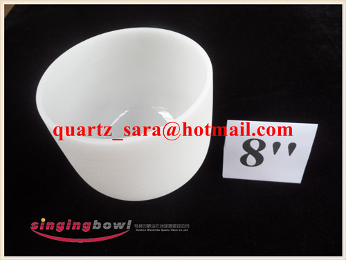 Direct Manufacturer White Chakra Tuned Quartz Singing Bowl from 8'' to 24'' and chakra note FSB951