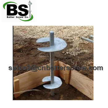 Metal helical screw pile and underpinning bracket for building foundation repair