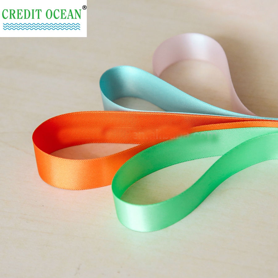 CREDIT OCEAN wholesale custom bow badge satin ribbon