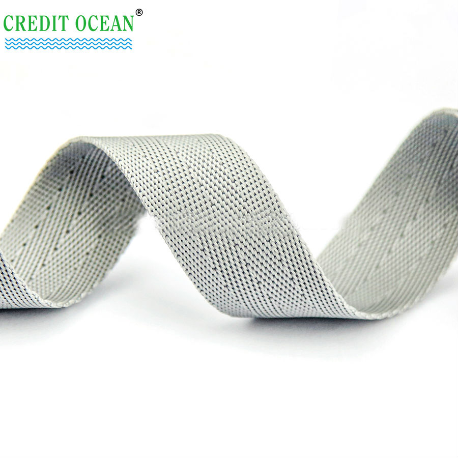 CREDIT OCEAN Customized polyester printed grosgrain ribbon for garment