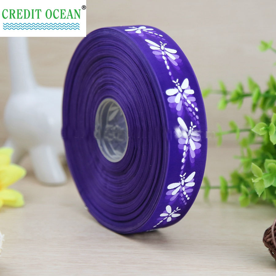Custom silk grosgrain polyester printed satin ribbon sale