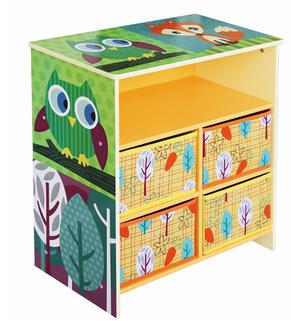 Wooden kids toy cabinet
