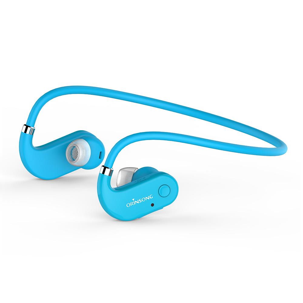 Orinsong Waterproof Wireless True Wireless In Ear Necklace Bluetooth Earphone Sport With Microphone