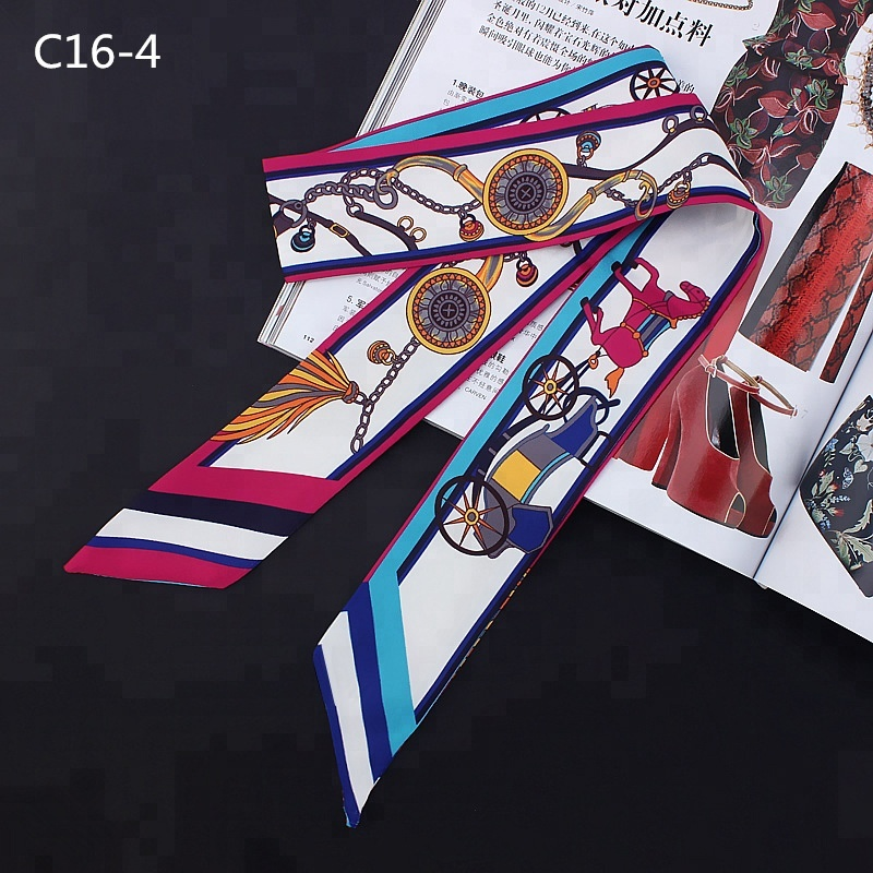Twill tie bag scarf fashion hair headscarf for women