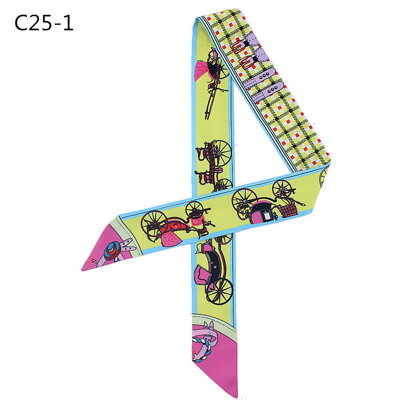 Hotsale printed silk fashion headscarf bandana for women
