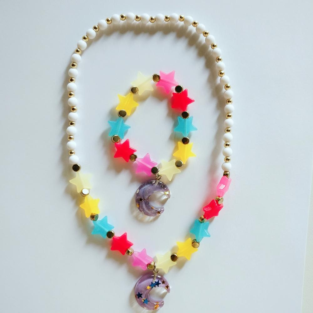 New Style Moon Stars Kids Jewelry Sets