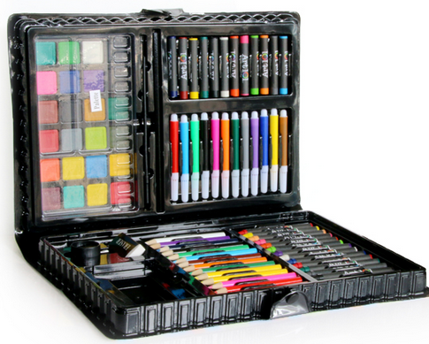 ZT-AS101 neatly organized 101 Piece Art Stationery Kids Drawing Sketching Set