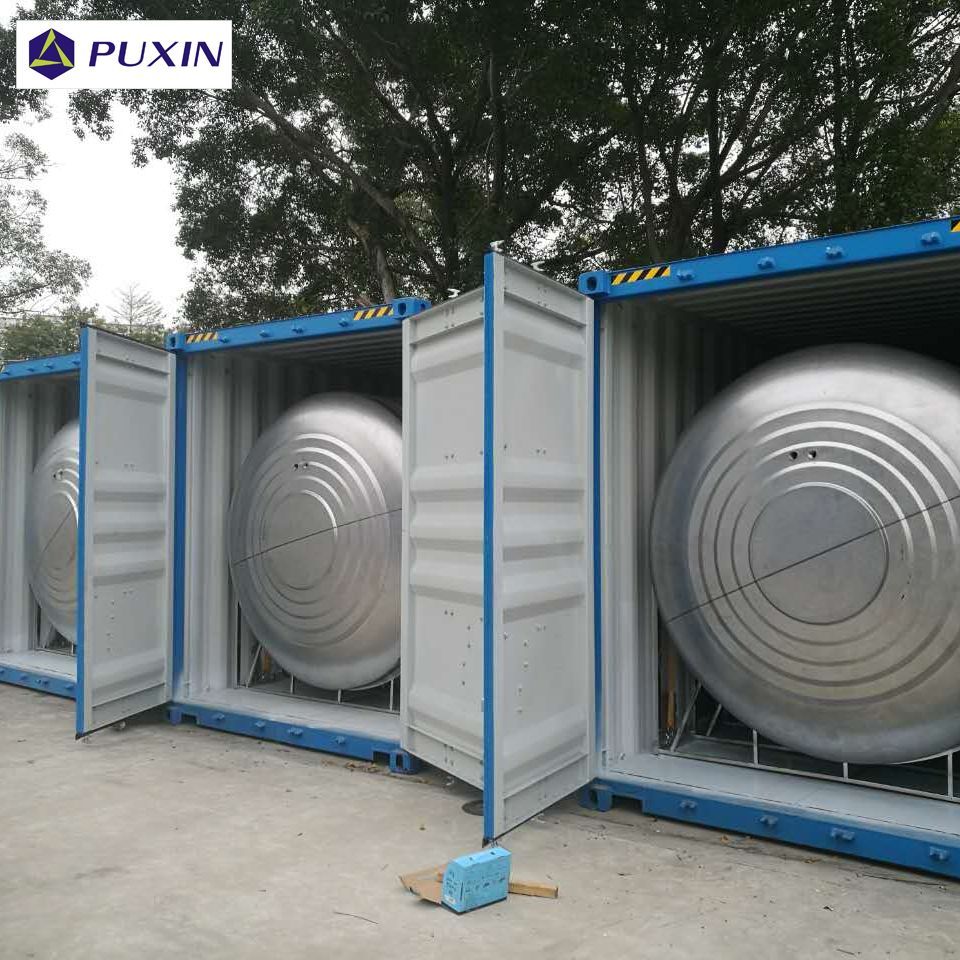 PUXIN 20FT container biogas reactor for large scale food waste treatment for sale