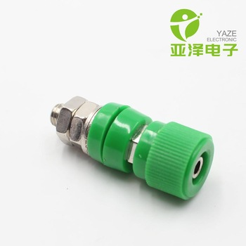 YAZE 4mm all copper high current terminal 50-60A open hole 12mm high pressure round cap binding post for sale
