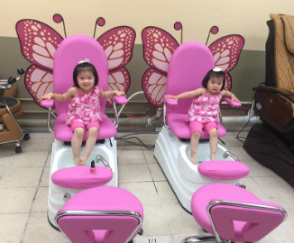 Butterfly Cute Kids Pedicure Chair