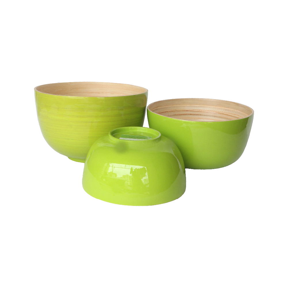 Eco-friendly with high quality spun bamboo bowls for salad for sale