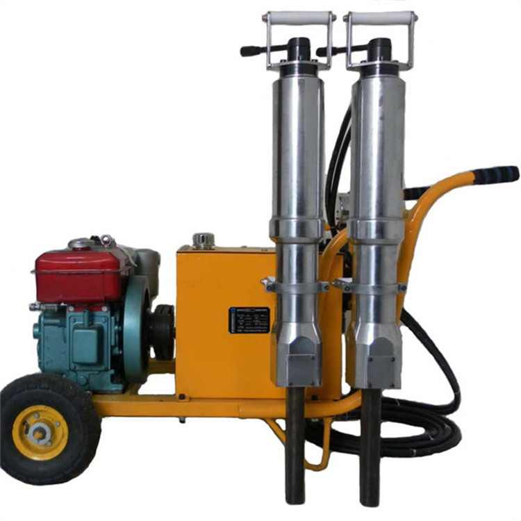 handheld hydraulic rock splitter with diesel power station for sale