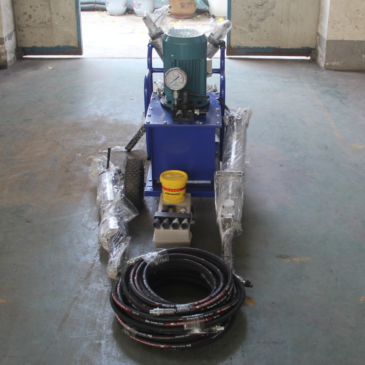 hydraulic rock splitter with electric power unit for sale