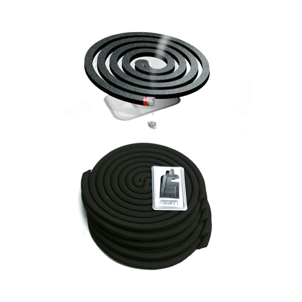 Natural citronella spiral-shaped mosquito coils with smoke free