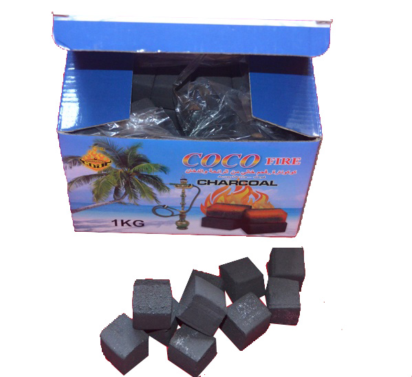 Hongqiang Good Hardness Coconut Shell Cube Charcoal For Hookah Shisha for sale