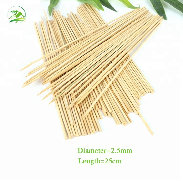 Factory Wholesale Cheap Natural Barbecue Bamboo Stick for sale