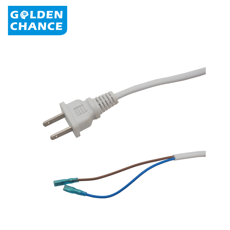 Home 2 pin flat electrical power wire AC plug sale