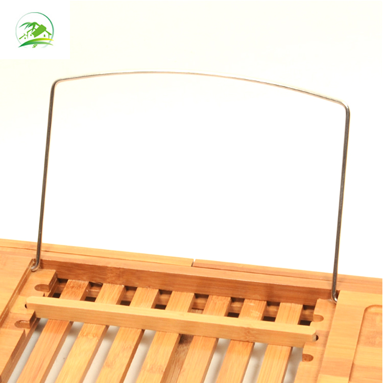 Bamboo Rack Bathroom Bathtub tray caddy with extendable sides for sale