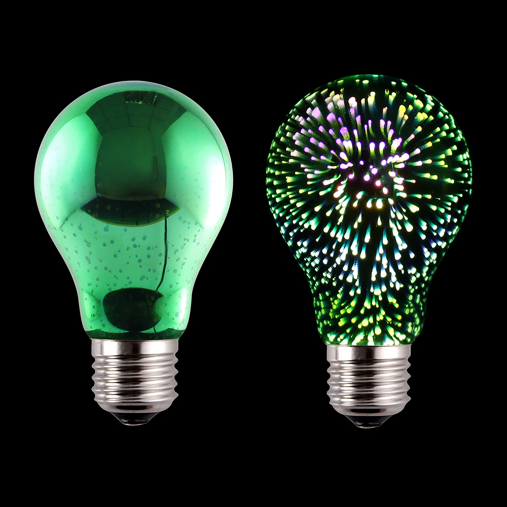 A60 E27 LED 3D Light Bulb Creative Colorful Lamp Fireworks Ball Light for Home Bar Cafe Party Wedding sale