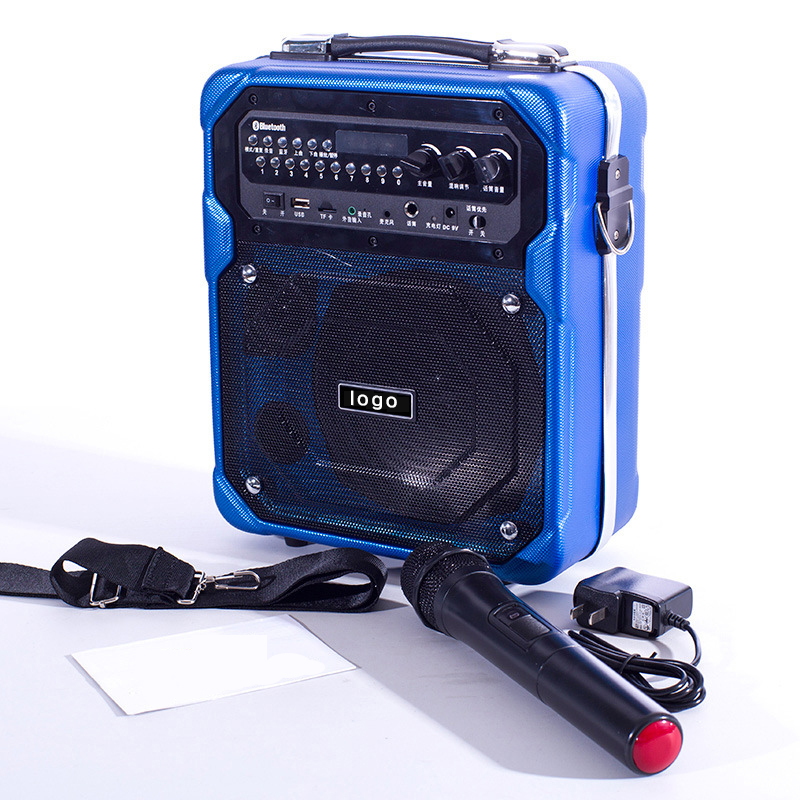 multimedia wooden PA portable usb sd card mini speaker fm radio microphone teaching amplifier sale