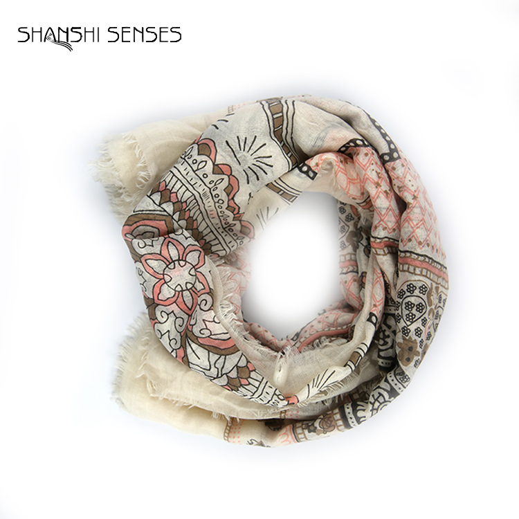 fashion soft print ladies scarf