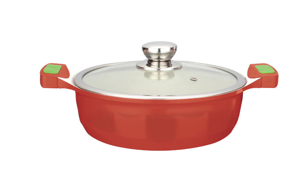 Kitchenware Non-stick Aluminum stainless steel stockpots set for sale