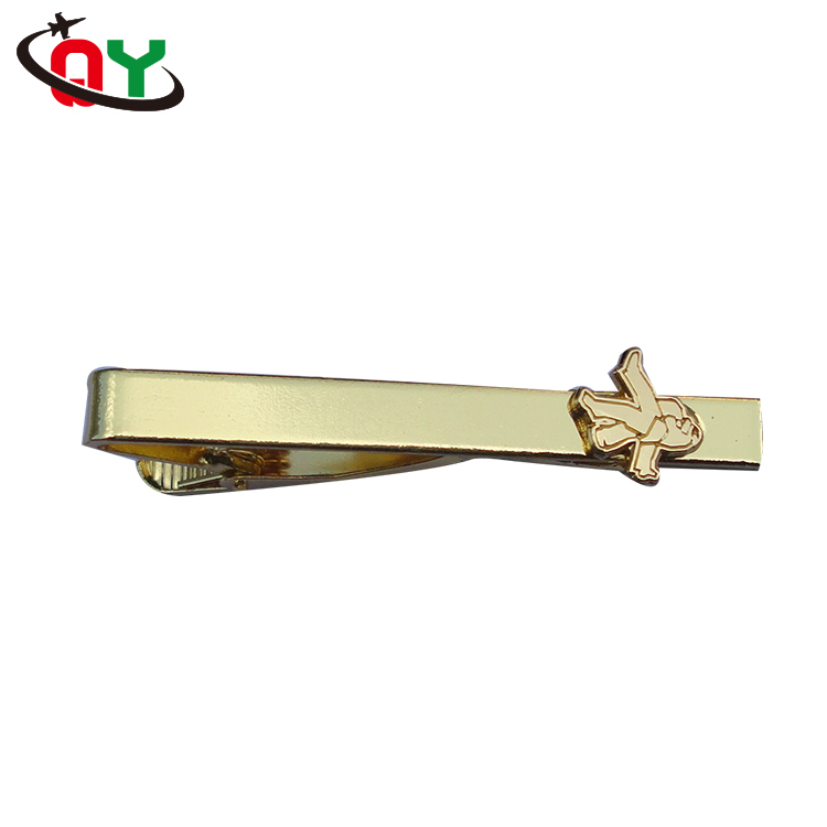Enamel Pin Custom Gold Necktie Bar Lapel Pin Practical Metal Blank Tie Clip