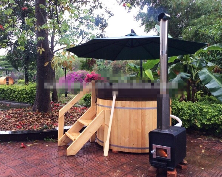 20 Years Manufacturer KEYA NEW DIY Wood Fired Hot Tub Outdoor For Sale