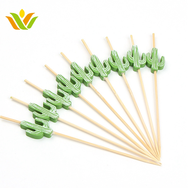 Decoration Bamboo Cactus Swizzle Stick for sale