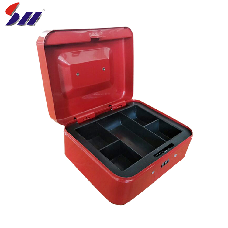 Factory accept design wholesale cold rolling steel portable locking safe money  box for sale
