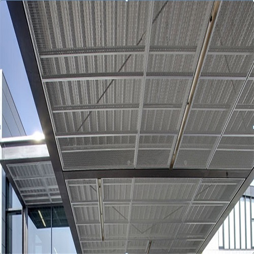 Expanded aluminum metal ceiling