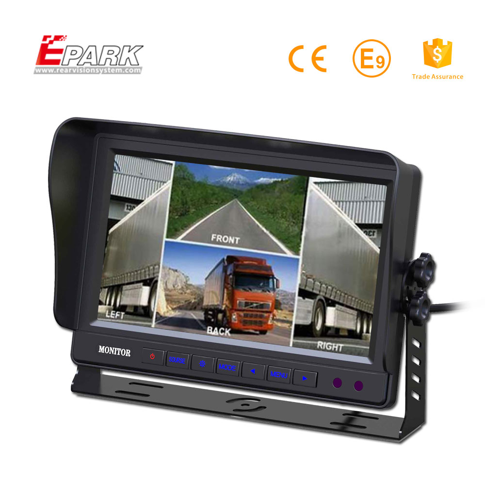 9 Inch TFT LCD Split Screen Quad Bus Monitor for sale