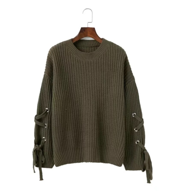 winter sweater and solid loose sweater