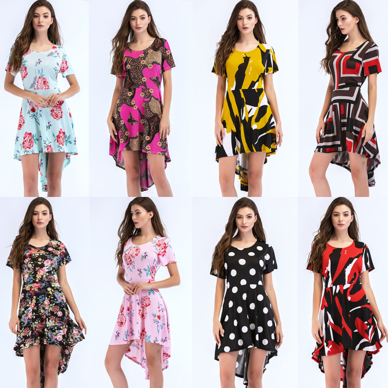 Hot selling women clothing dress summer fat lady plus size dress skirts for slae