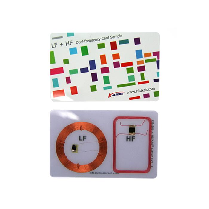 PVC LF HF Dual Frequency Rfid Card sale