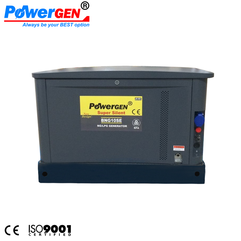 POWERGEN 10KW LPG/NG Power Super Silent Natural Gas Kohler Type Turbine Generator 10KVA for sale