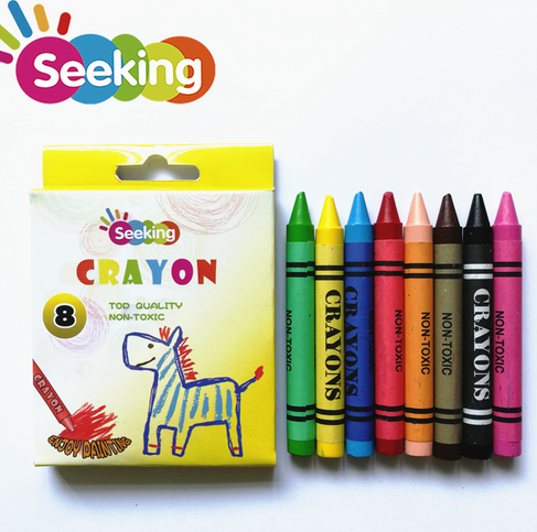 Seeking 8 pcs wax crayon new design color box non-toxic crayons