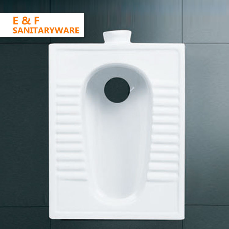 eastern type toilet japanese squat toilet one piece wc pan standard toilet size ceramic fix squatting pan For Sale