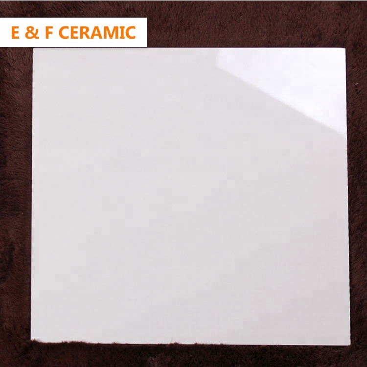 sitting room floor vitrified polished  ceramic glossy tiles 1000x1000 600X600 super glossy white polished porcelain tile For Sale