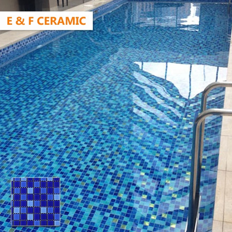 Blue Swimming Pool Glass Mosaic Tiles