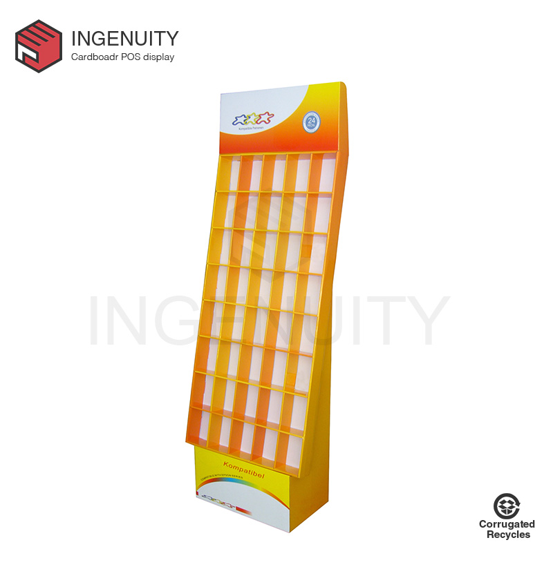 greeting cards corrugated cardboard display rack