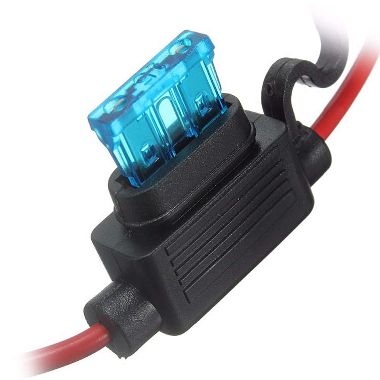 16 AWG Gauge Copper Wire Car Auto Blade Inline Fuse Holder Waterproof with 15 AMP Fuse for sale