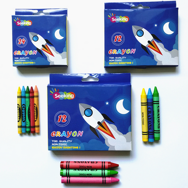 Meet ASTM and CE Standard bright color crayon baby's creative art potential crayons