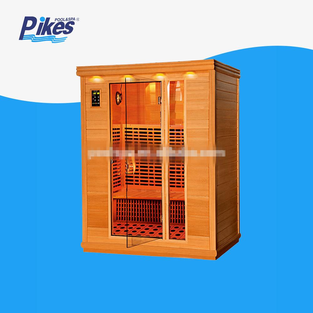 Cheap price Canadian hemlock outdoor dry sauna wet steam room OEM wood steam sauna room For Sale