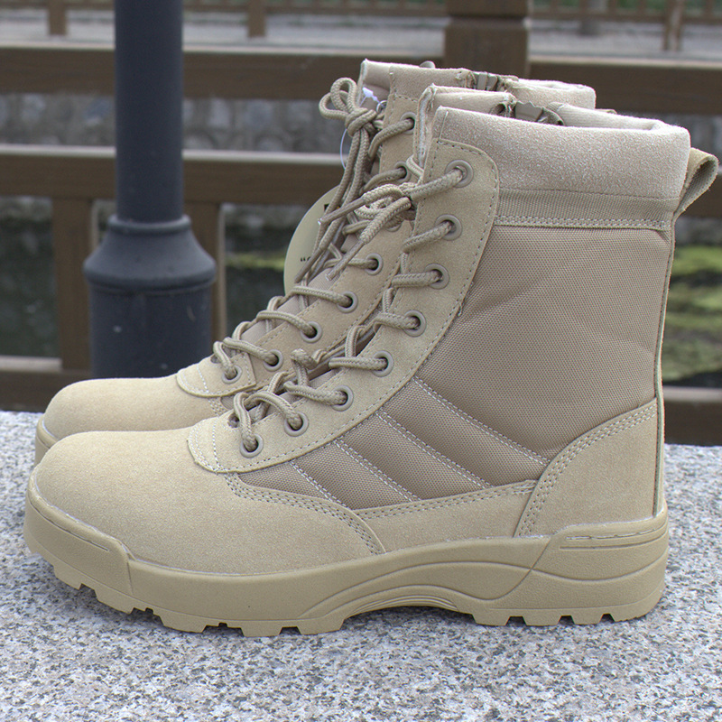 Tactical Army Leather Hunting Police Desert Boots