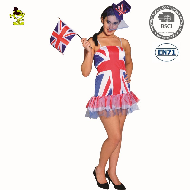 Adults Party Sexy British Flag Tutu Dress country girl halloween costume women for sale