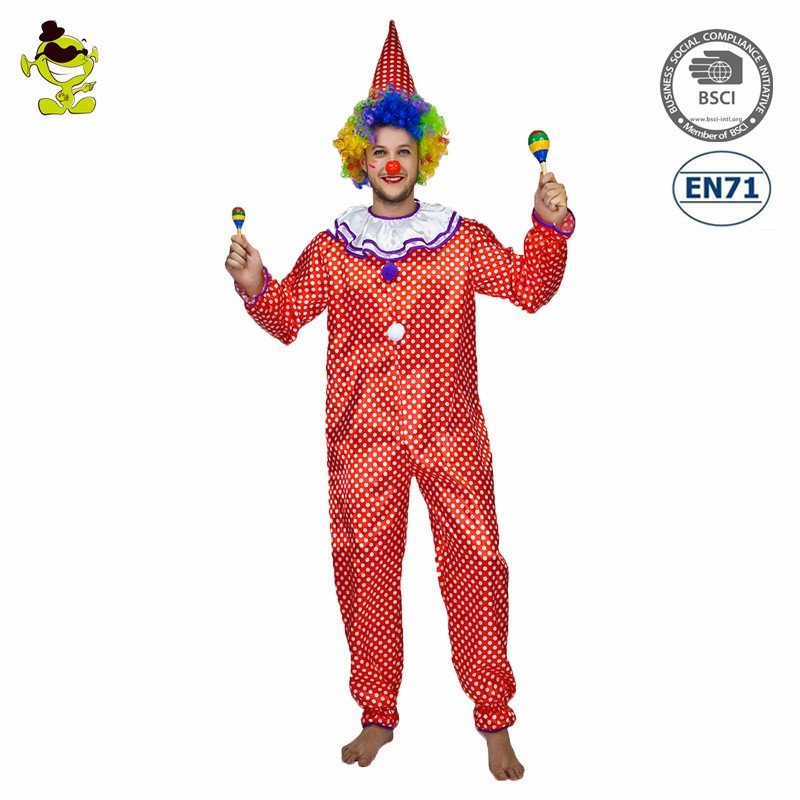 Halloween carnival new design funny Clown Man party costume for sale