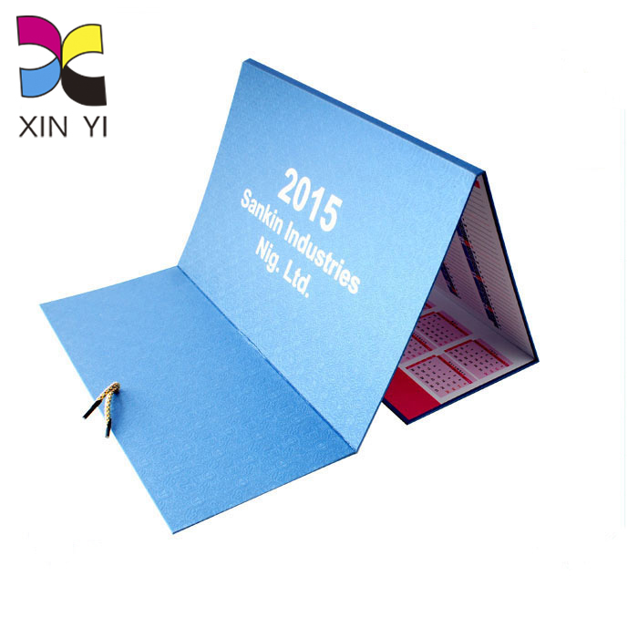 Chinese planner laminated cheap high quality custom color printed digital wall calendar for sale