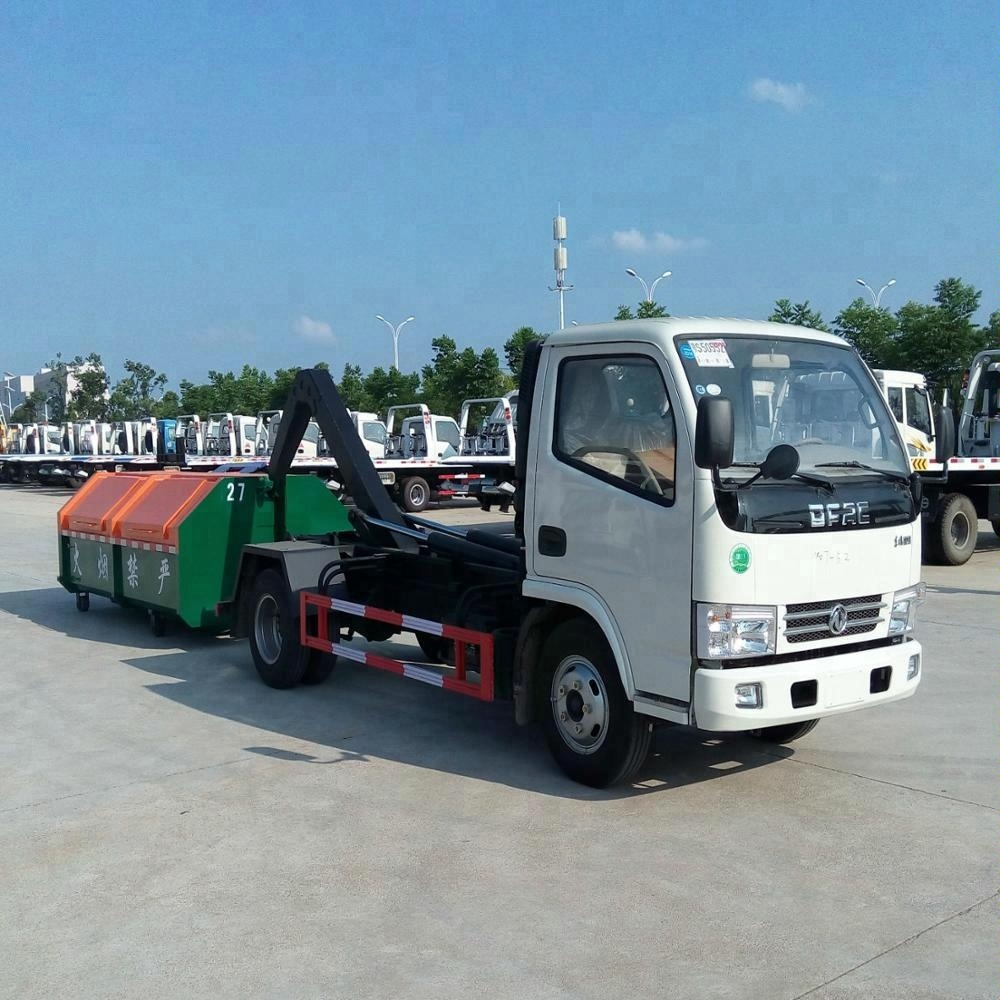 Easy operation Foton 4-5ton hook arm garbage truck , waste disposal truck for sale